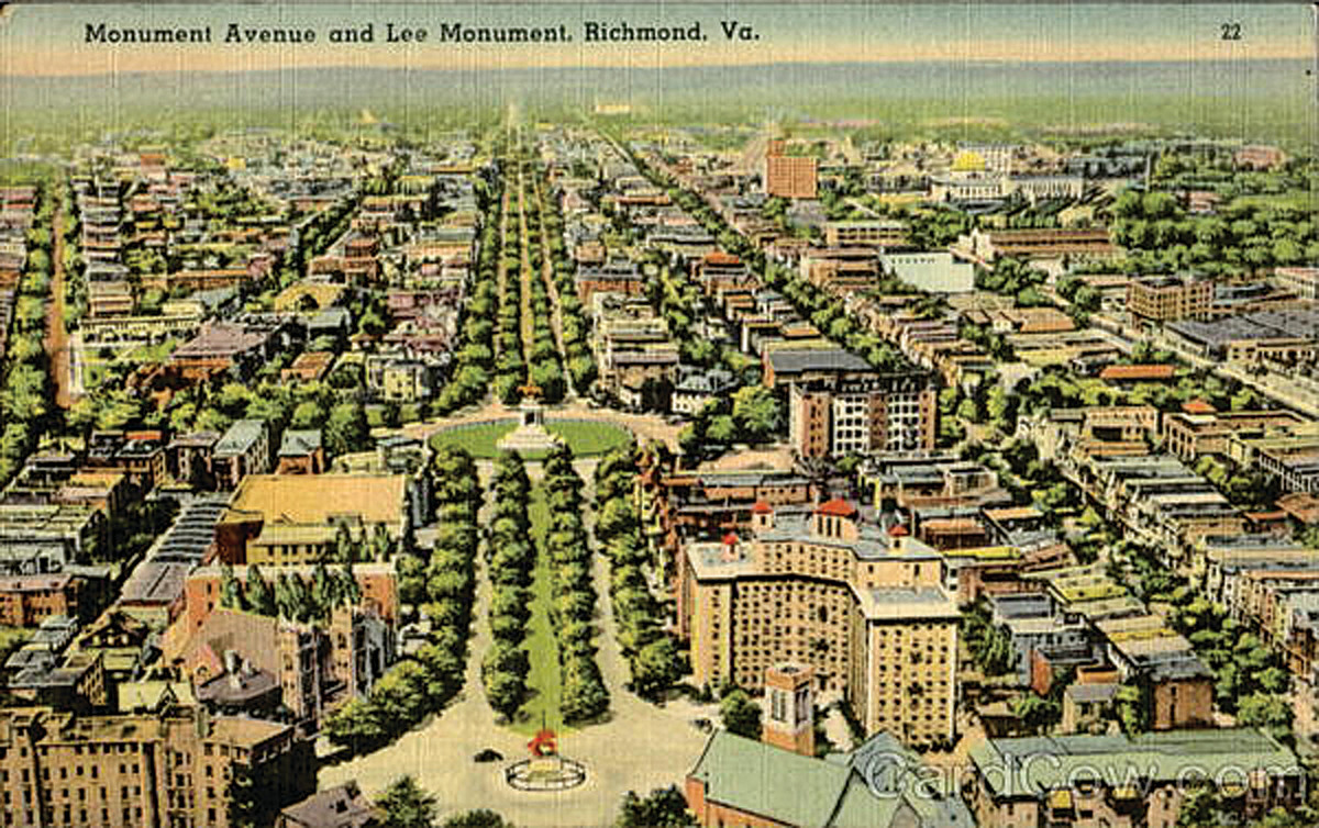 Monument Avenue and Lee Monument, Richmond, Va.