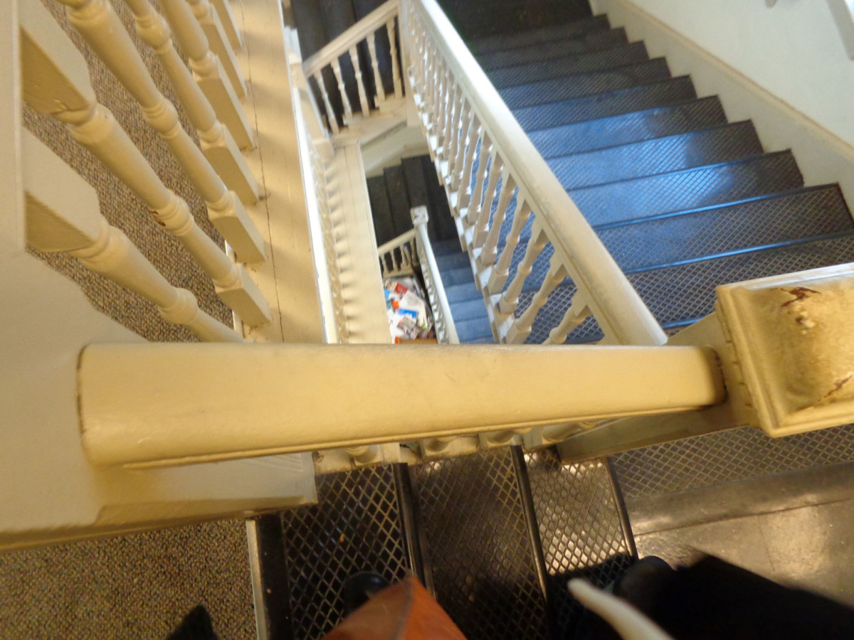 The original staircase was enclosed because of fire regulations. Photo: Lord Aeck Sargent