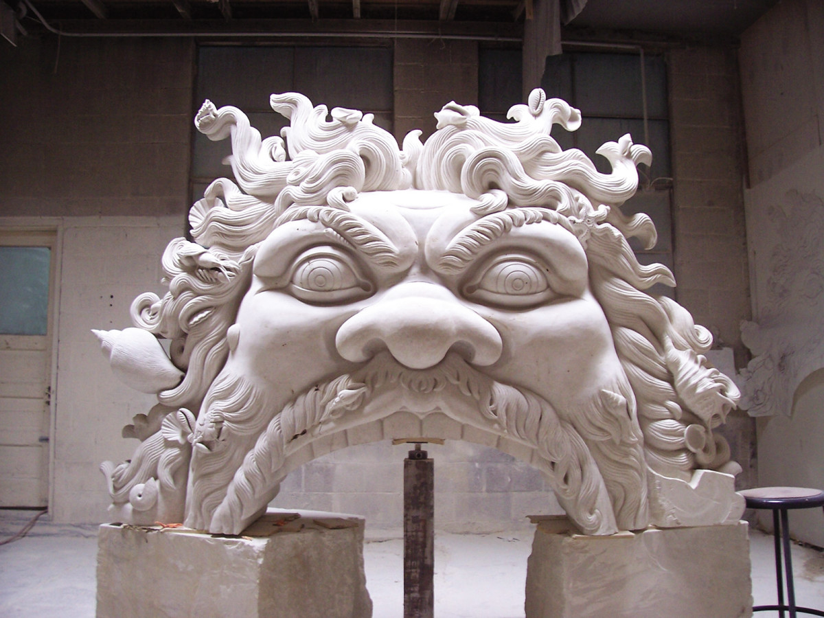 Hand Carved Stone Mantels Traditional Building