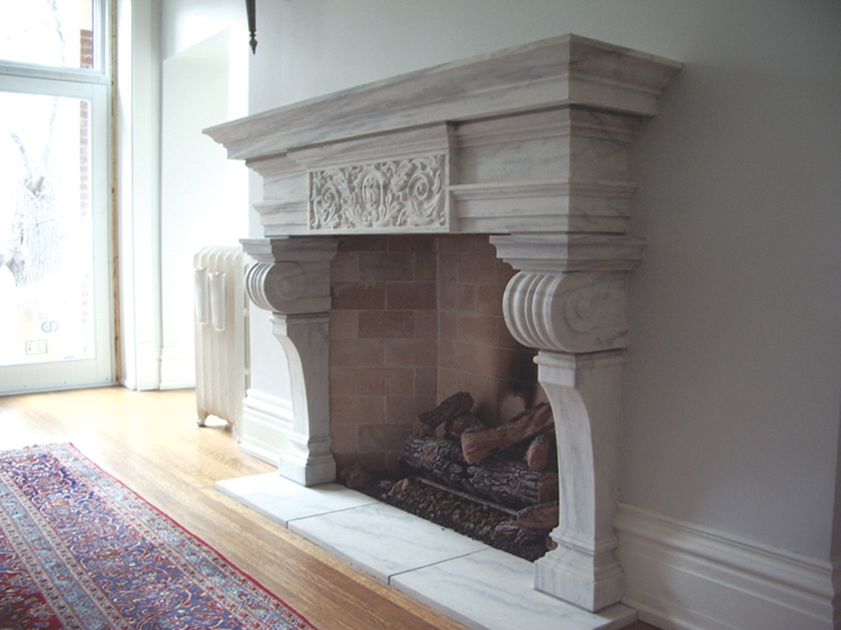 Carrara marble mantel by Traditional Cut Stone