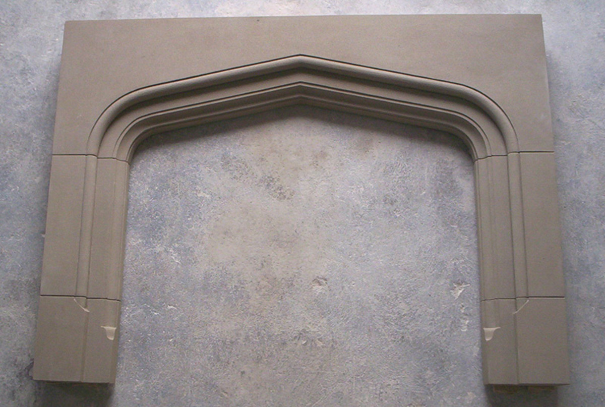 limestone hand carved stone mantel