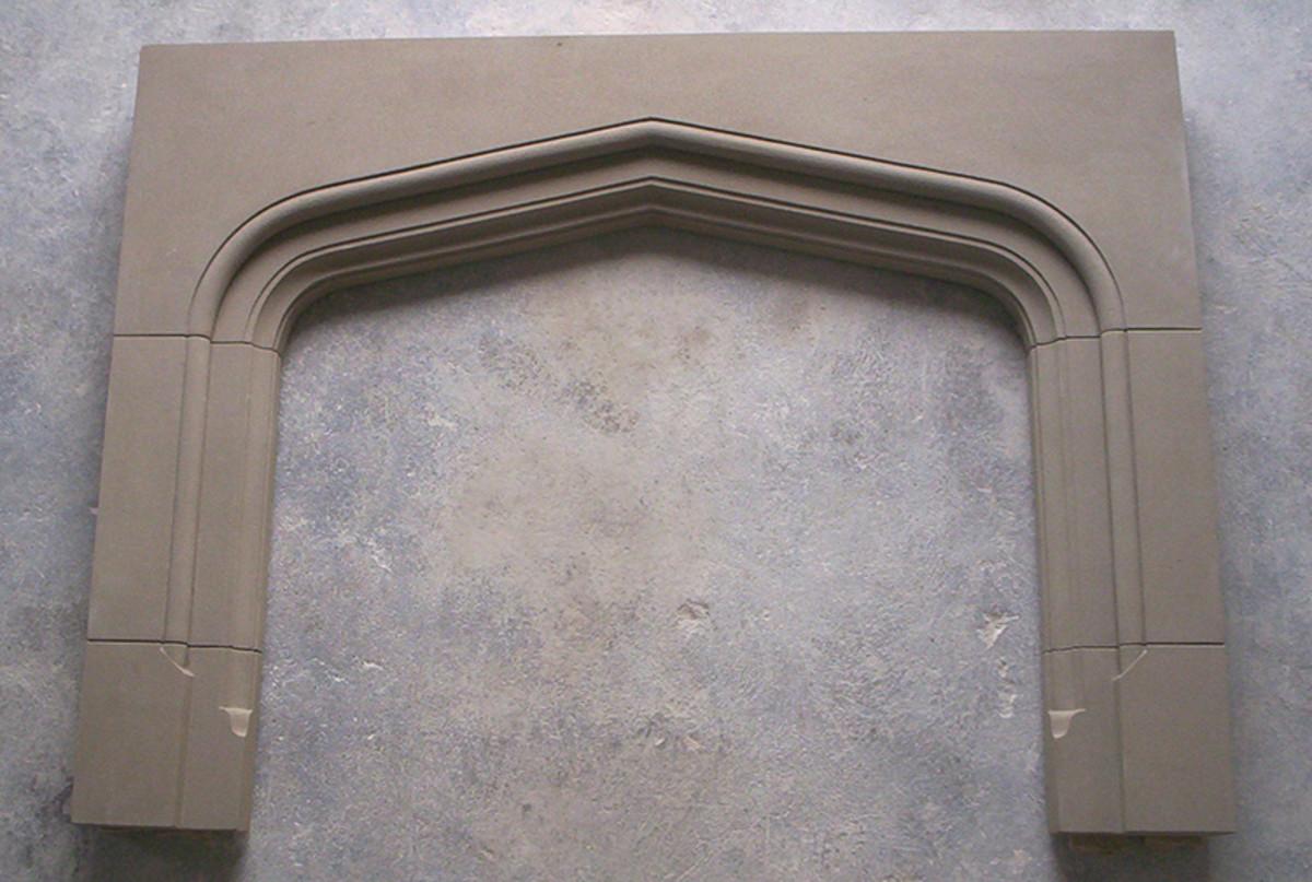 limestone hand carved stone mantel