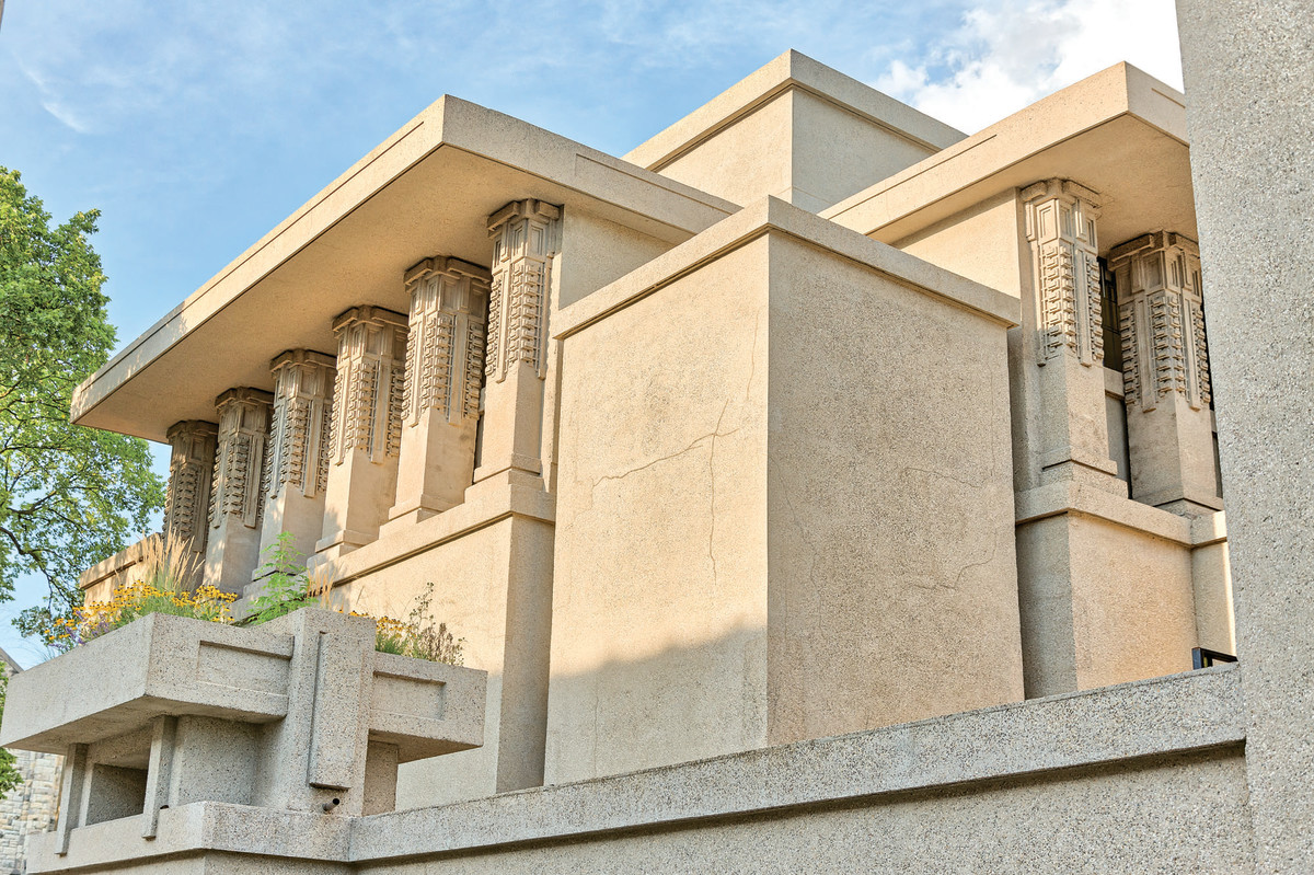 Unity Temple, concrete building