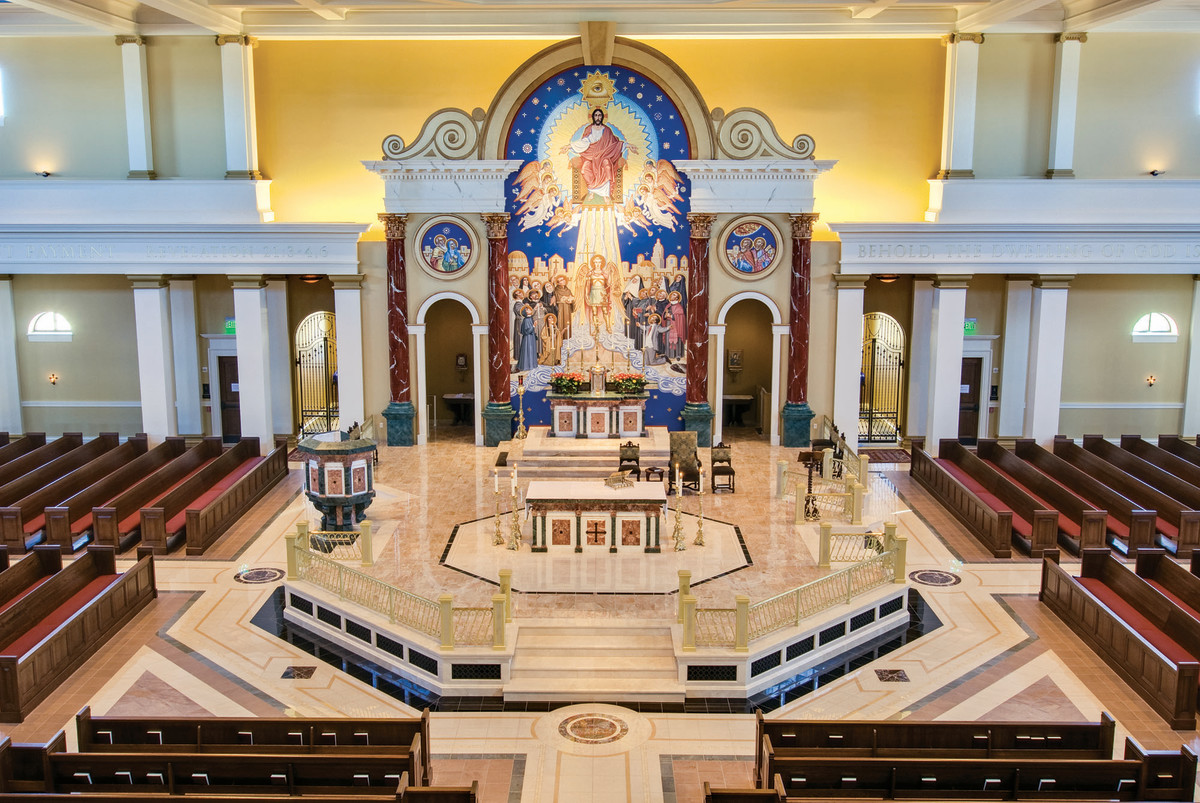 Multiple classical orders were incorporated for their structural and anthropomorphic meanings to make a classically readable whole at Saint Michael the Archangel Catholic Church in Leawood, KS.