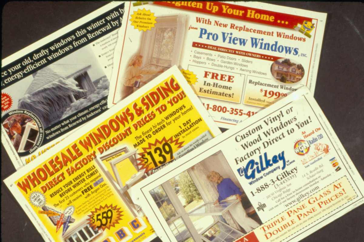 Window mailers, circa 2005. All photos by the author.