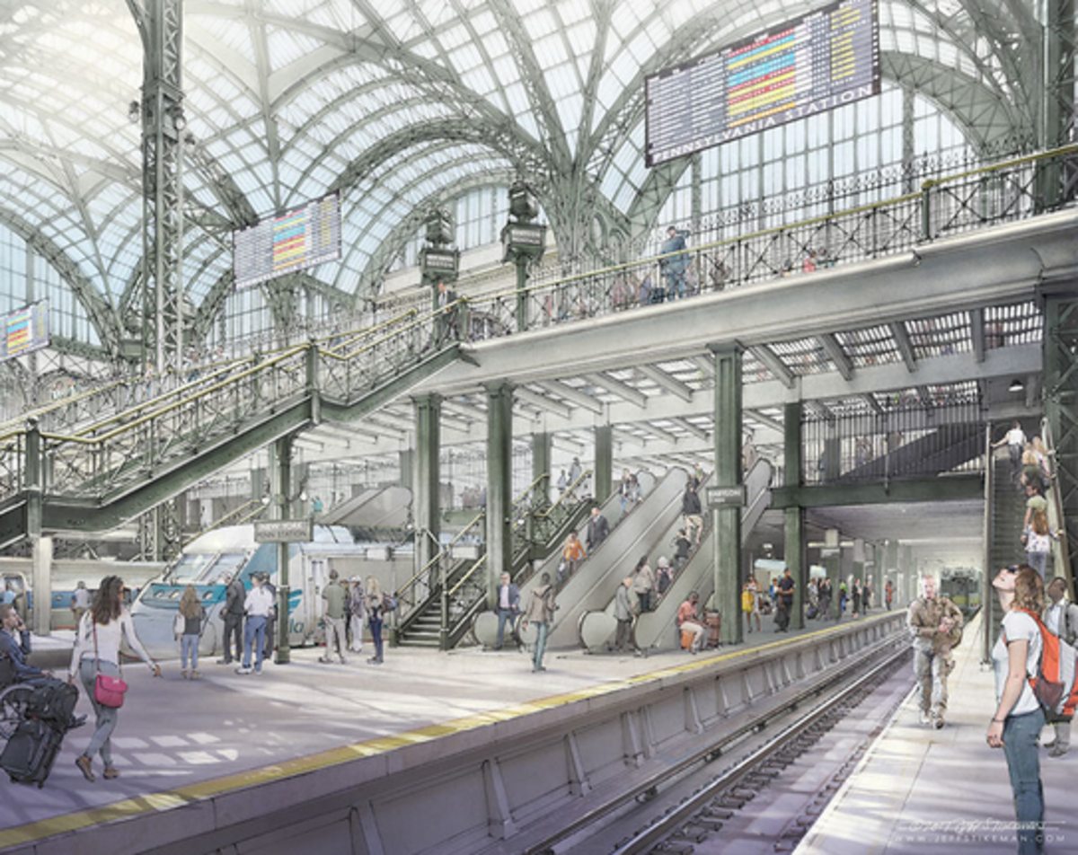 Rendering of recast platforms for proposed restoration. Jeff Stikeman for Rebuild Penn Station.