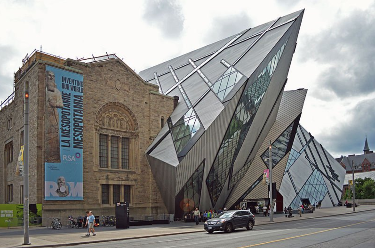 "Addition to the Royal Museum of Ontario, in Toronto, a modernist idea of ""scientific"" architecture. Wikipedia"