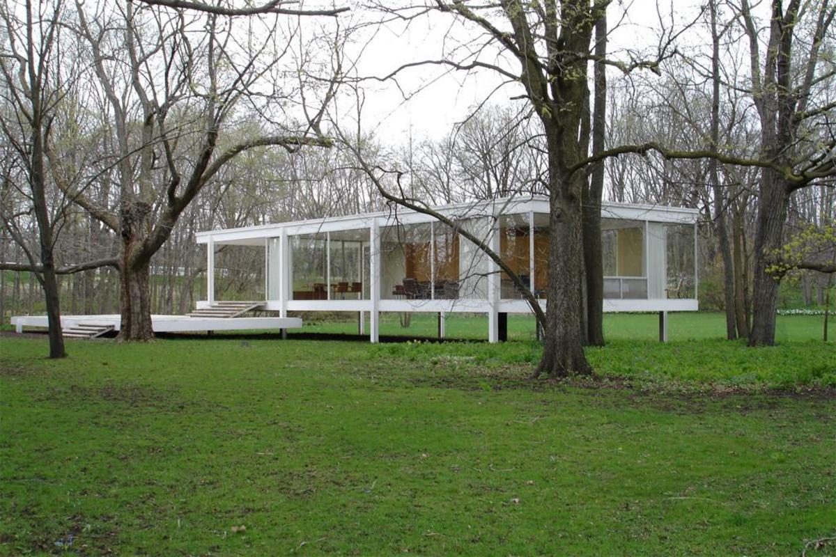 Ludwig Mis van der Rohe, Farnsworth House, Plano, Illinois,1946-52