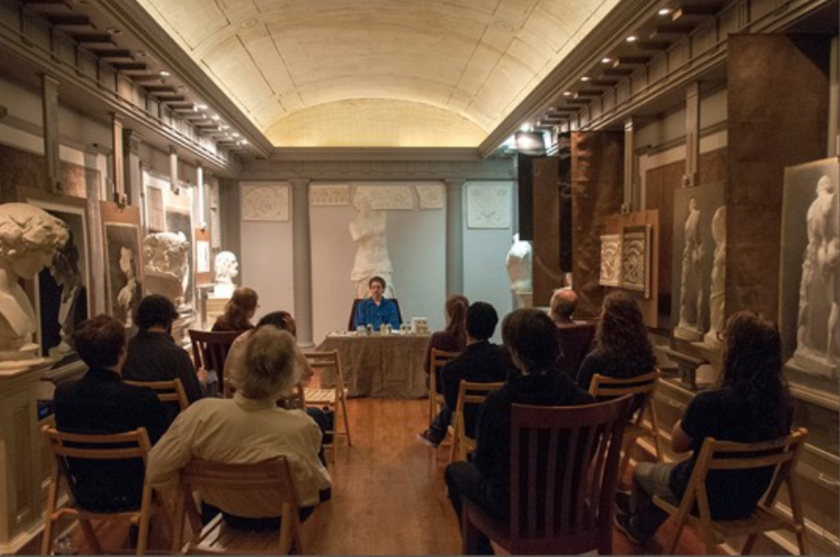 A lecture in the Cast Hall at the Academy of Classical Design. (Bill Indursky/Chelsea Classical Studio)