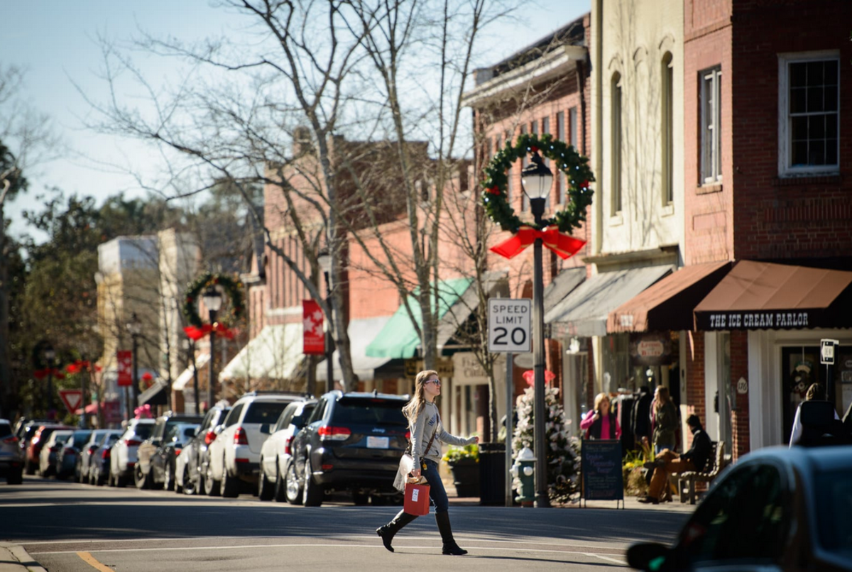 Downtown Southern Pines, N.C. location of ACD. (Andrew Craft/Buzzfeed News