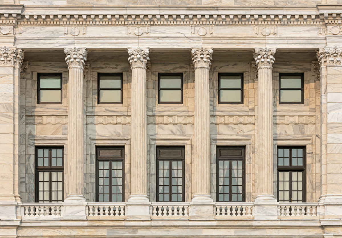 marble exterior, Minnesota capitol
