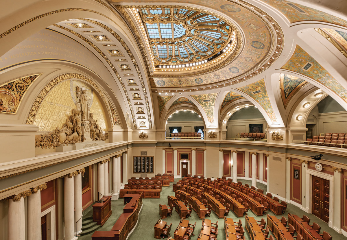 interior of Minnesota capitol