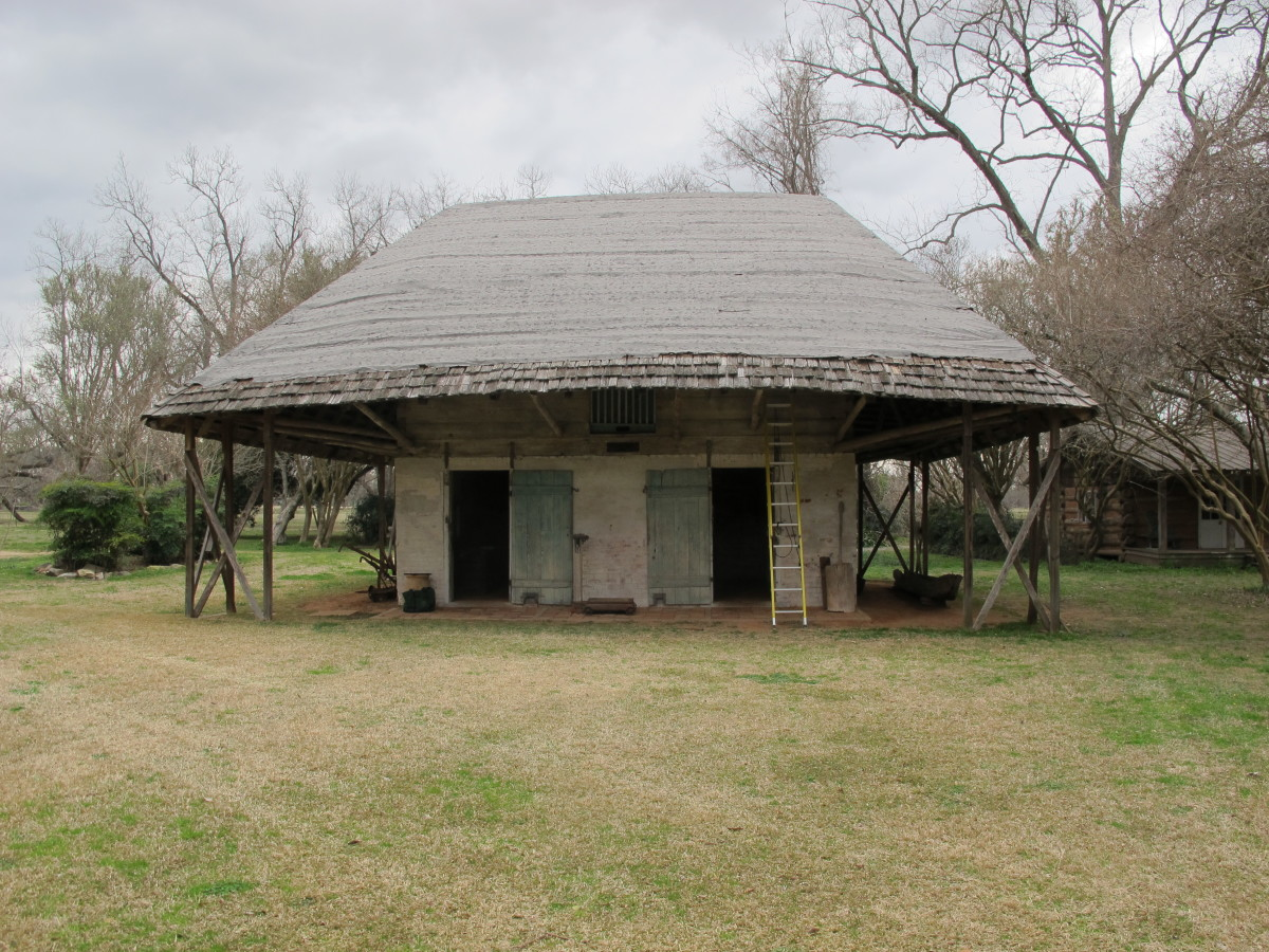 The  ca 1810 Africa House at Melrose Plantation, Melrose, LA.
