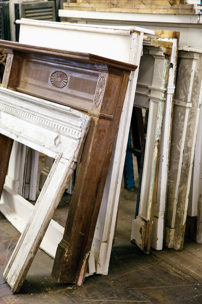 architectural salvage, vintage mantels