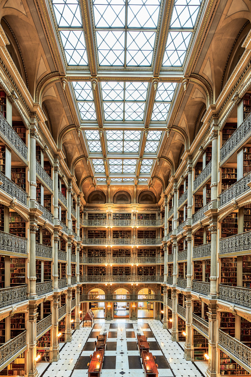 "It is easy to understand why The George Peabody Library has earned its title, ""The Cathedral of Books."""