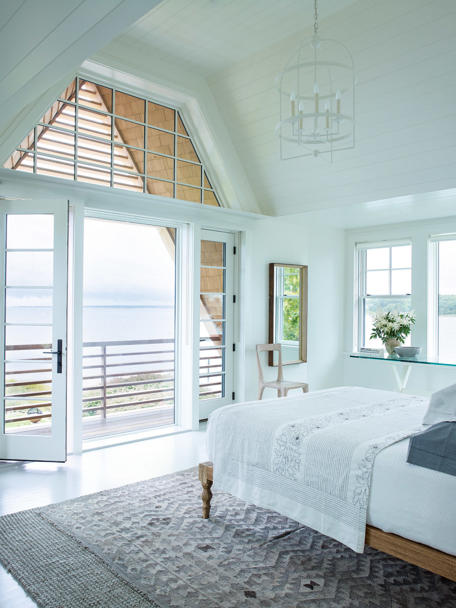 master bedroom overlooking the bay
