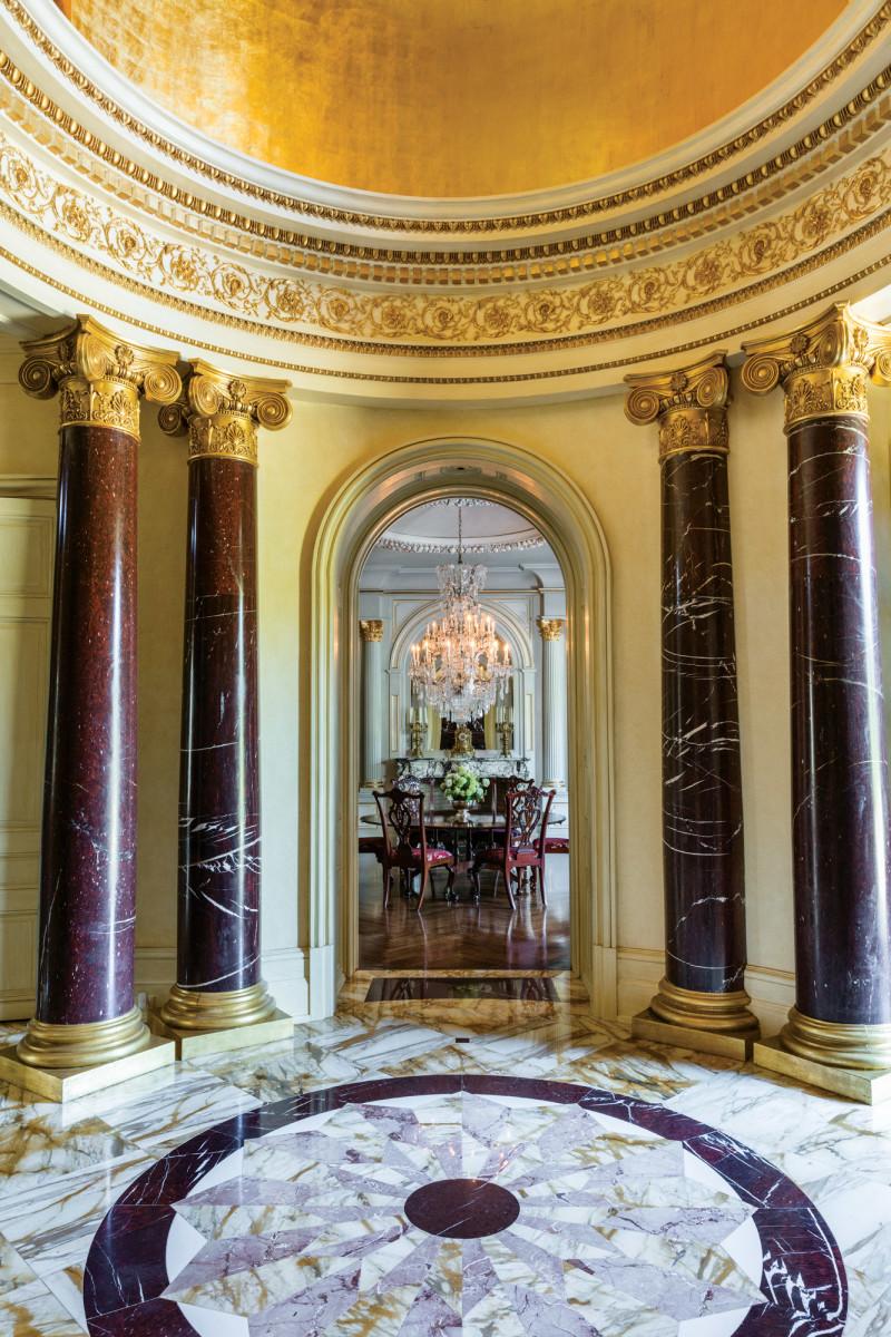 Beaux-Arts Estate, 2019 Palladio Award Winner, entry vestibule