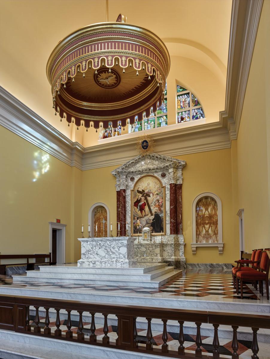 freestanding altar