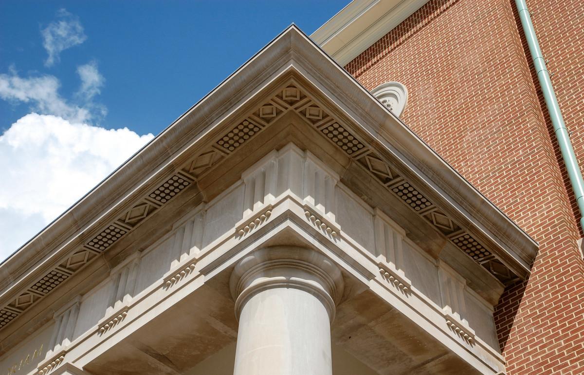 portico's entablature