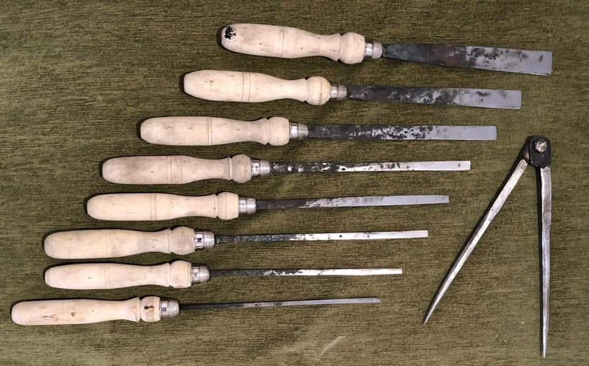 Hand forged chisels and dividers