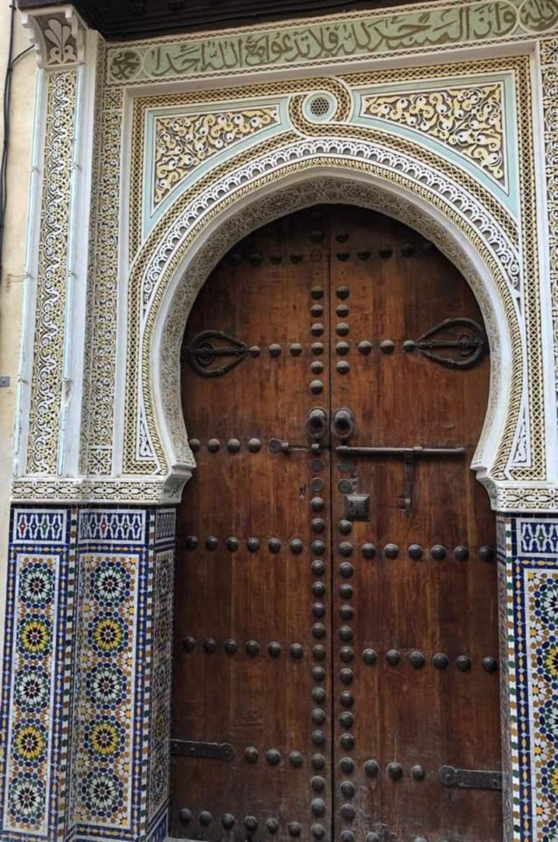 Door surround in Fes
