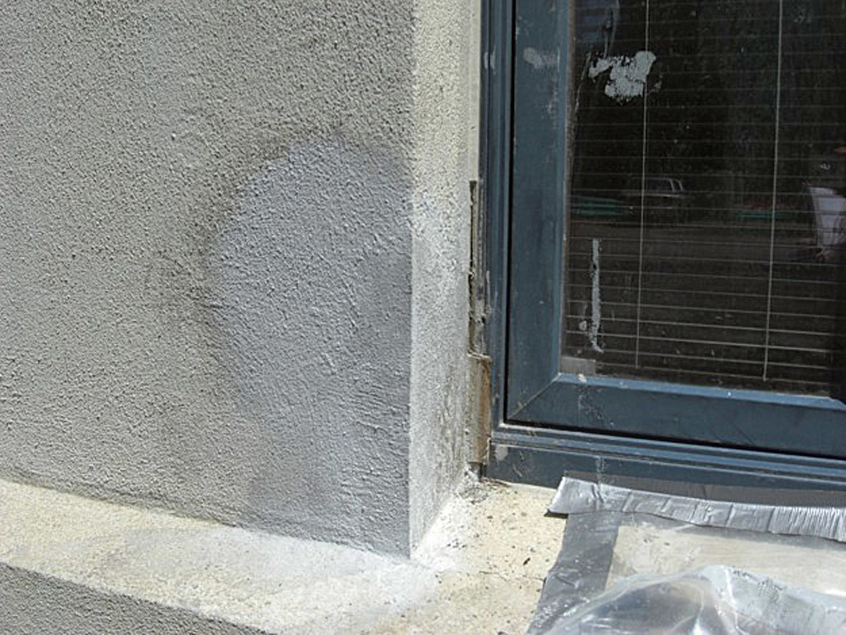 Concrete formed patch