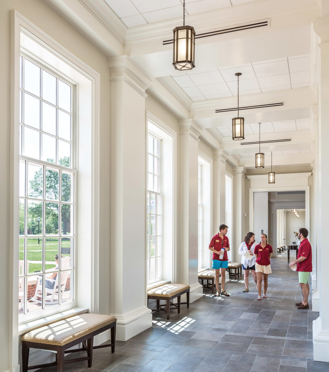 Elon University's Admissions Welcome Center interior