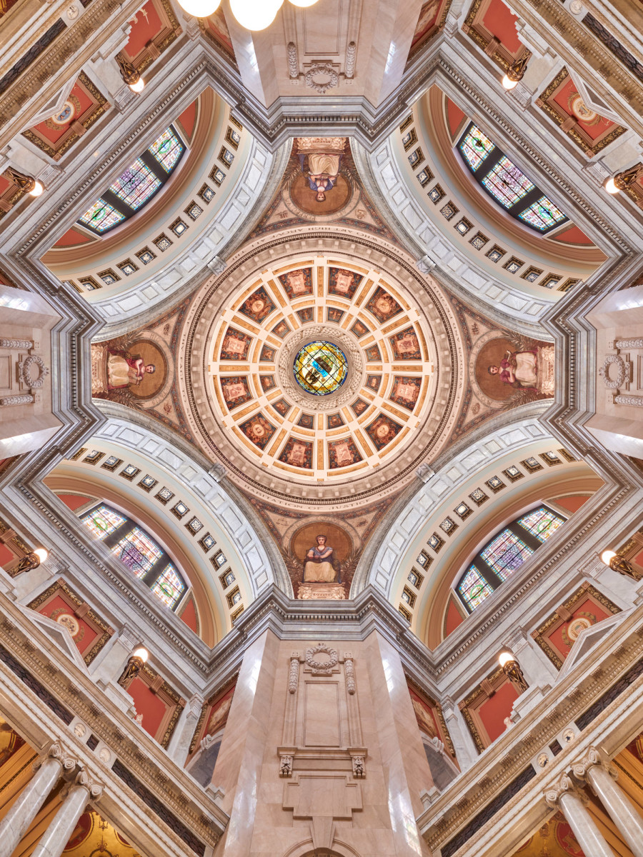 Luzerne County Courthouse ceiling