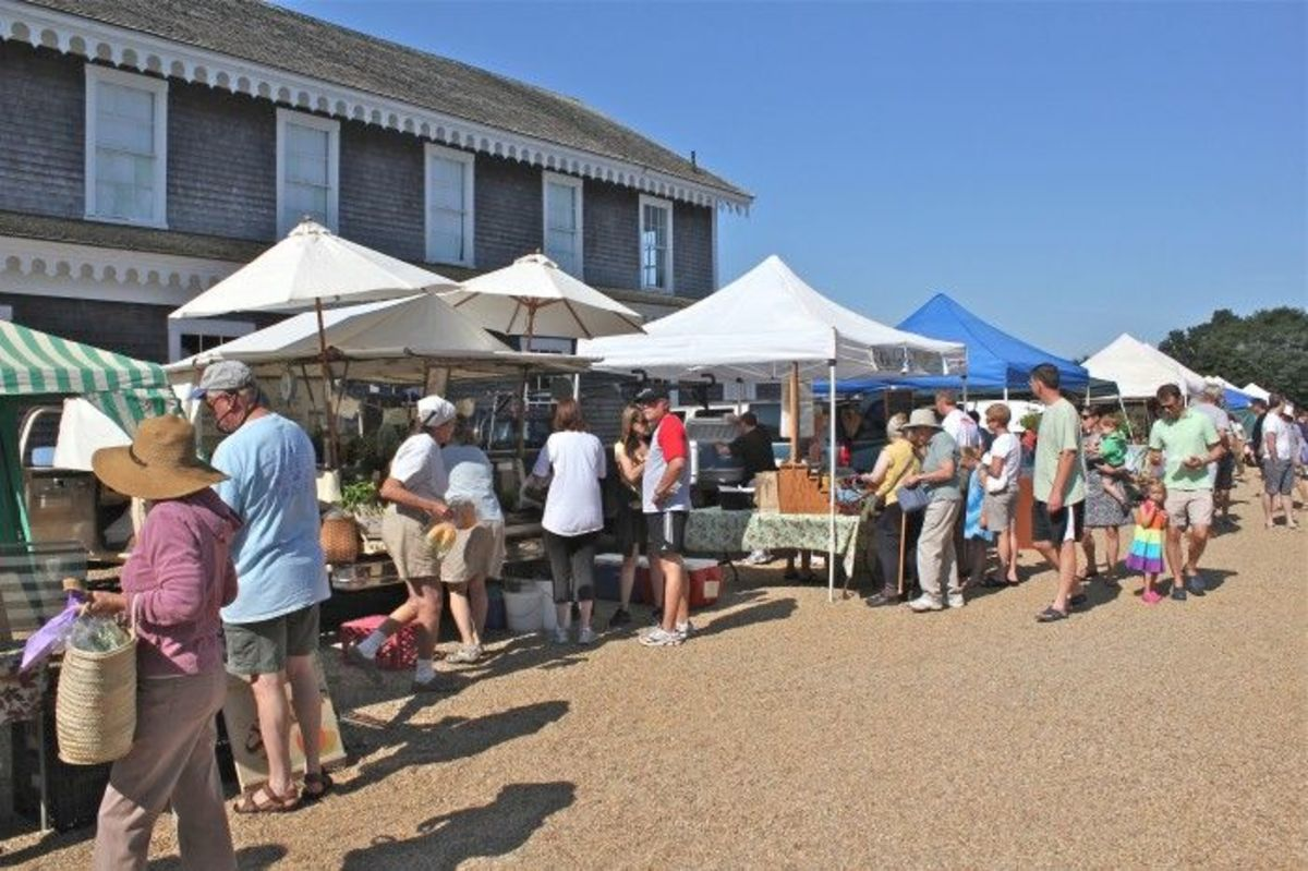 farmers market at Grange Hall
