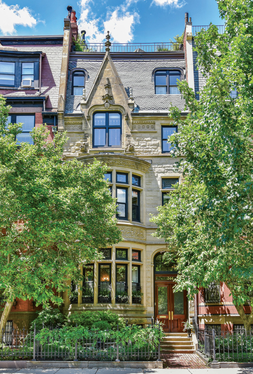 Back Bay townhouse with Indiana limestone façade