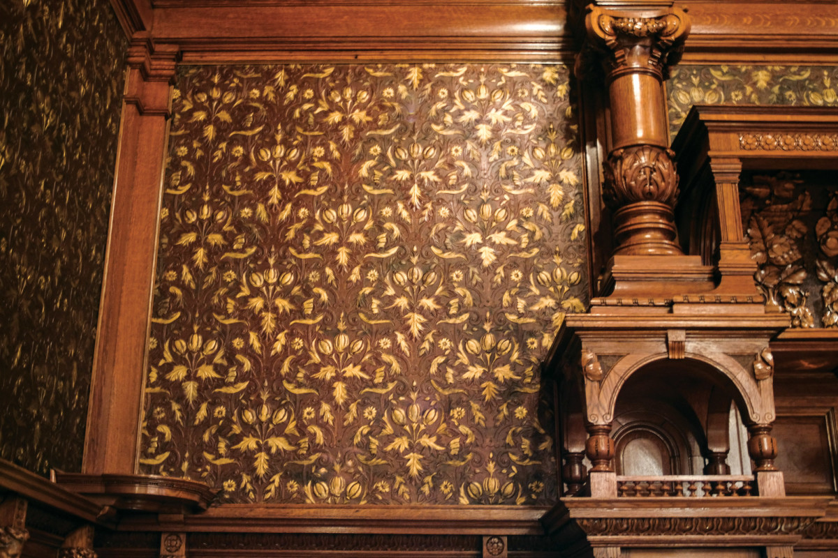 Lincrusta Wallpaper, The Driehaus Museum