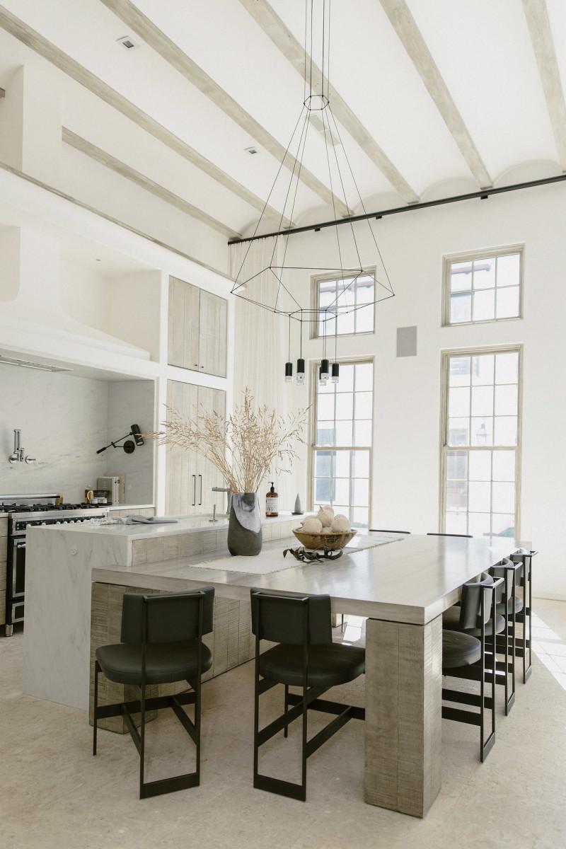 plaster range hood, Khoury & Vogt Architects