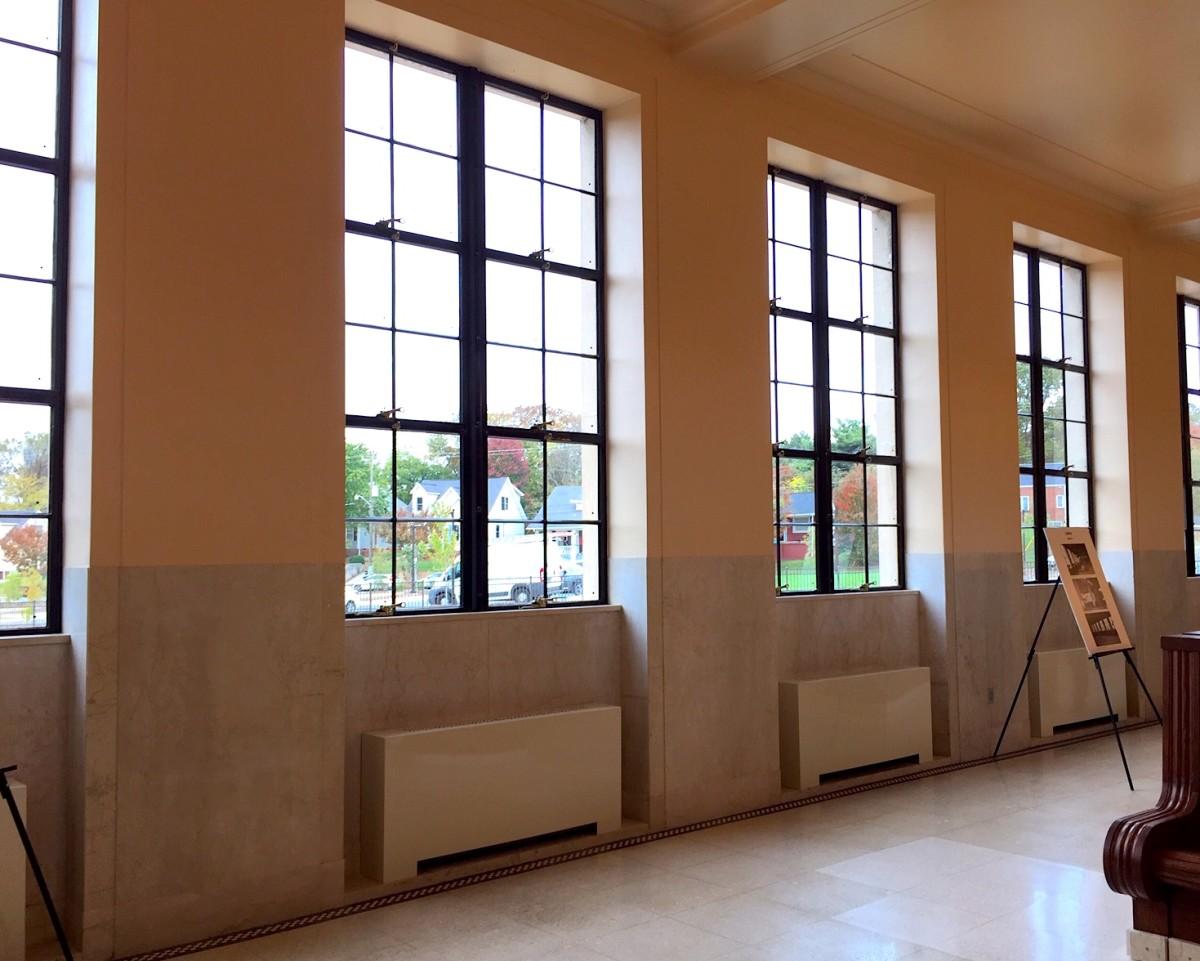Winston-Salem Union Station windows