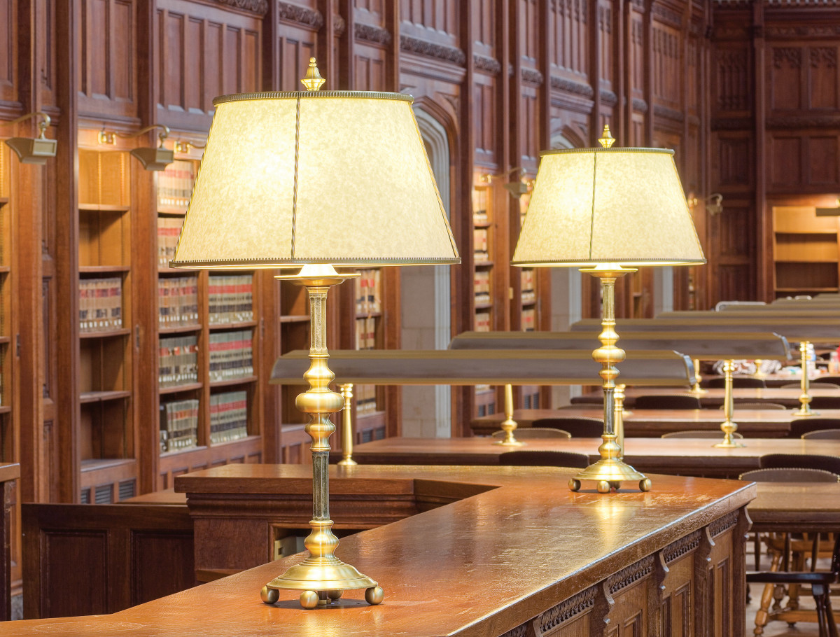 Gary Steffy Lighting Design restored the lighting in the William W. Cook Law Library Reading Room at the University of Michigan, Ann Arbor, Michigan.