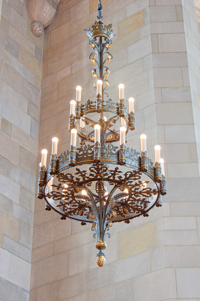 Restored Gothic chandelie