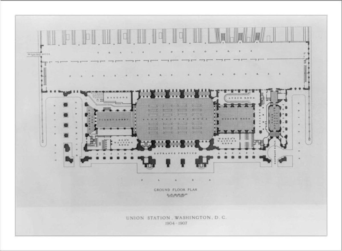 6. Burnham Union Station D.C. 1904-07 Plan