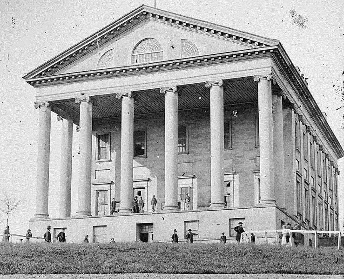 Thomas Jefferson, Virginia Capitol 1865