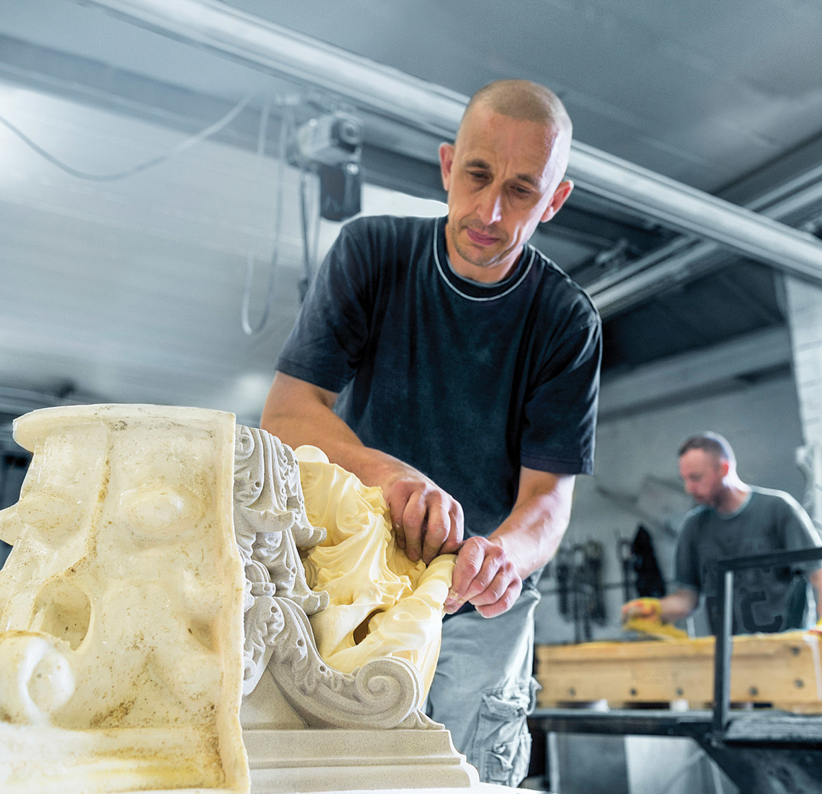 Haddonstone removing rubber mold
