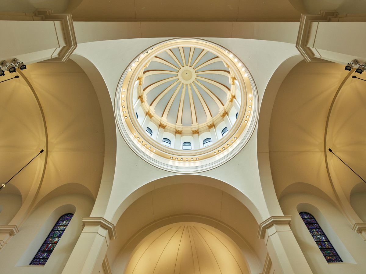 Interior view of dome at Holy Name of Jesus Cathedral