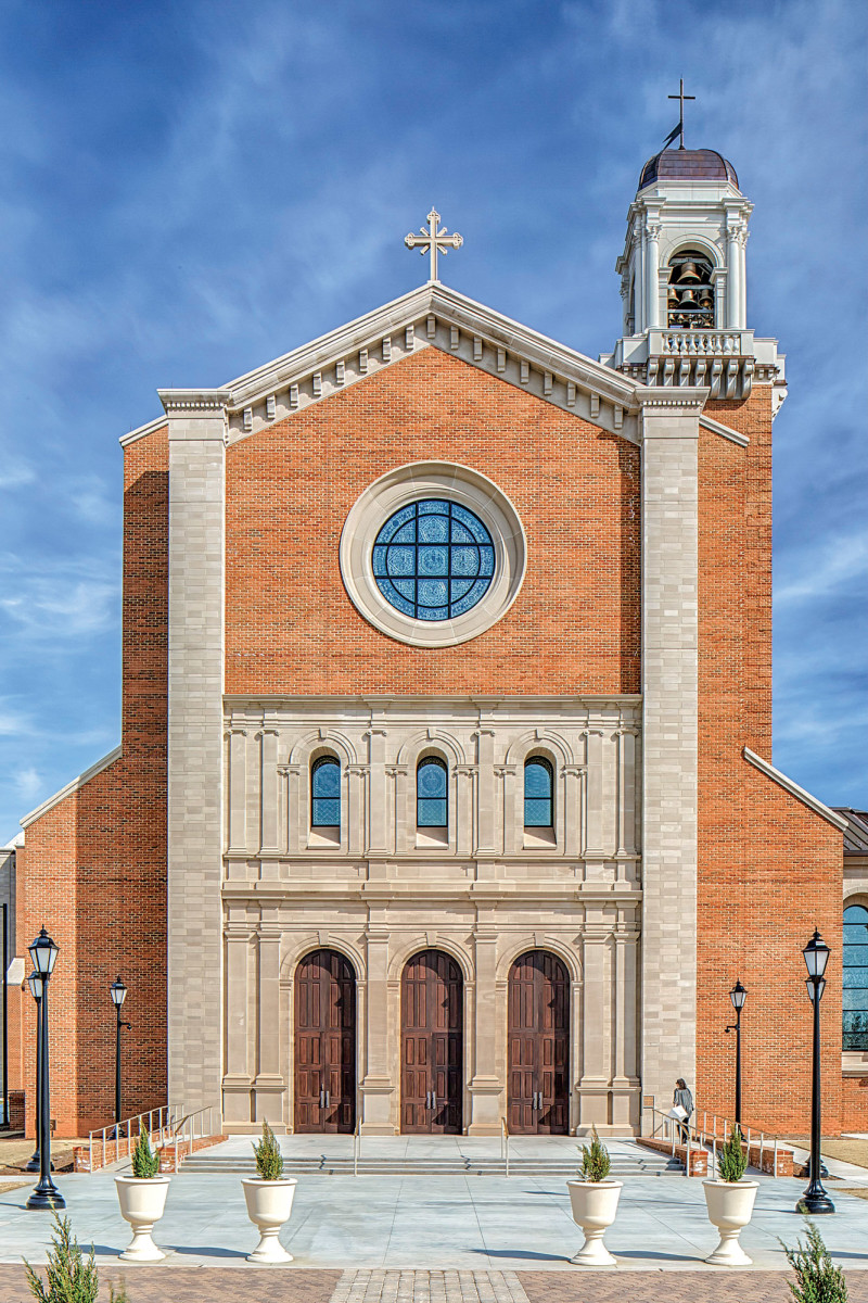 Exterior shot of Holy Name of Jesus Cathedral