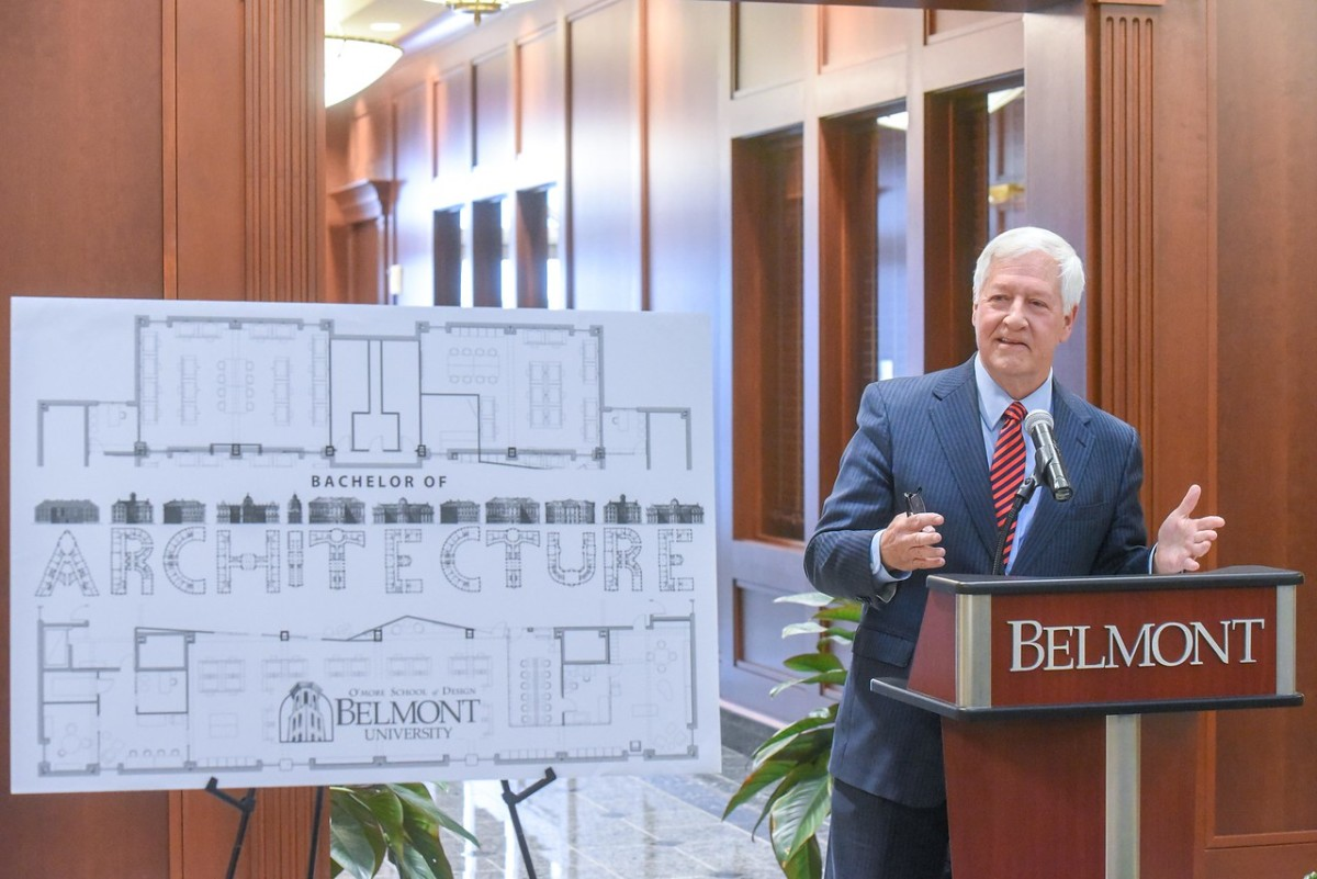 Belmont University President Dr. Bob Fisher.