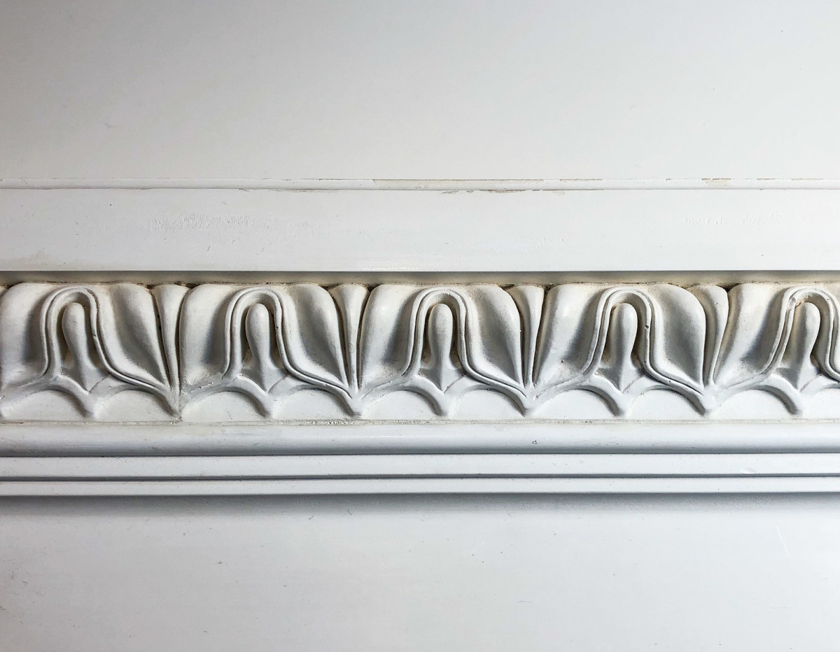 close-up of decorative classical molding