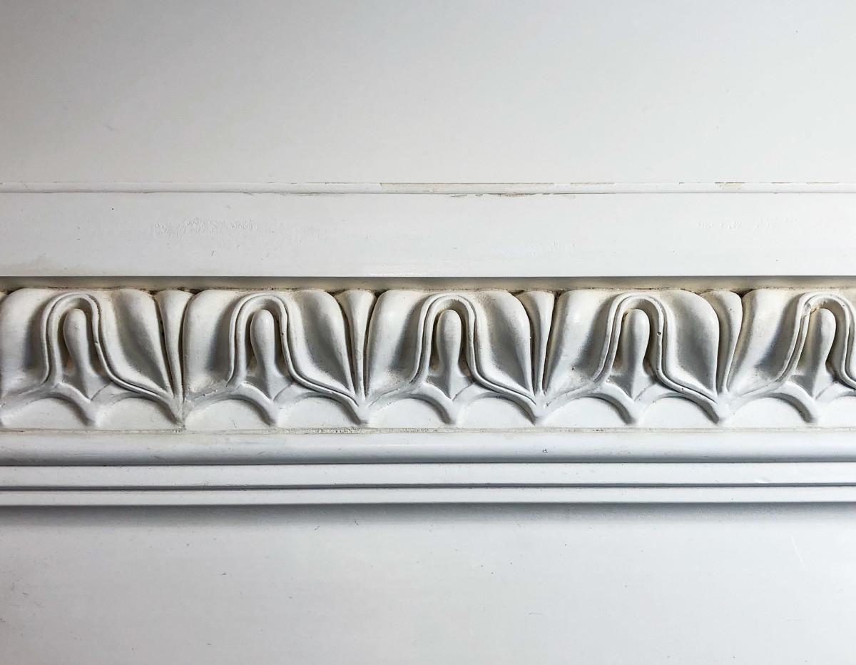 close-up of decorative classical molding