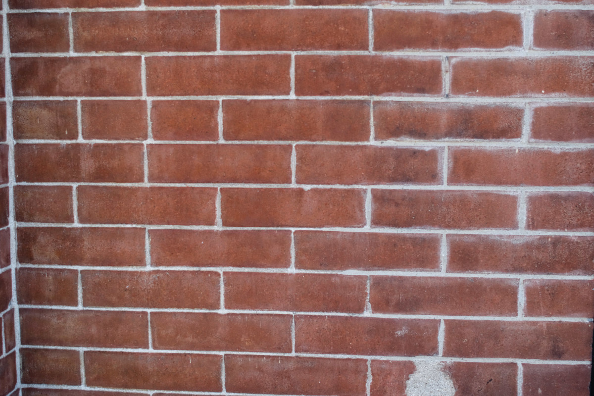 example of narrow mortar joint repointing