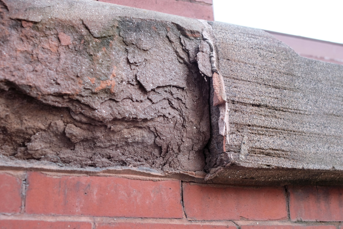 sealant damage, sandstone damage