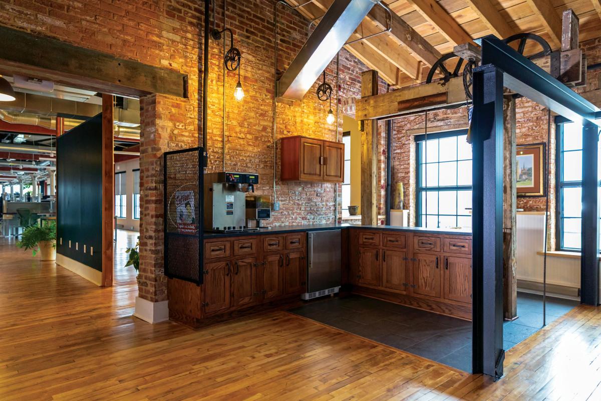 Tenant lobby coffee bar