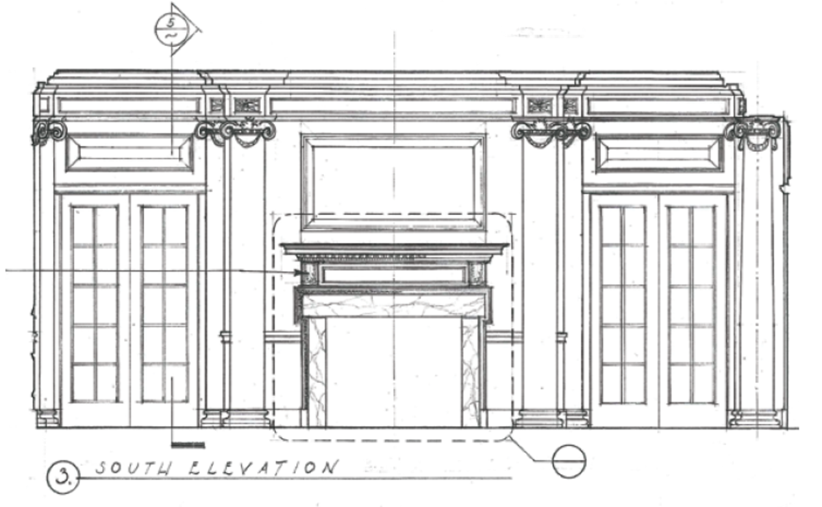 south elevation illustration