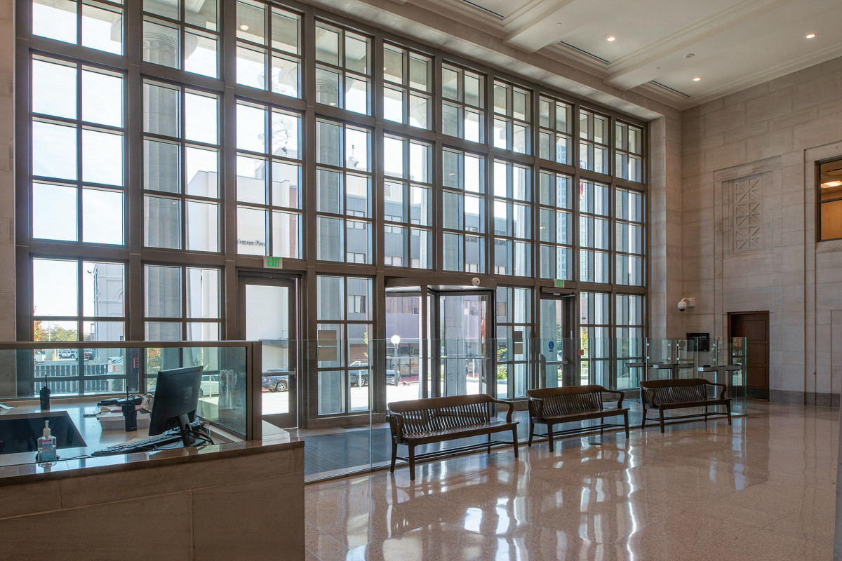 interior of John A. Campbell Courthouse