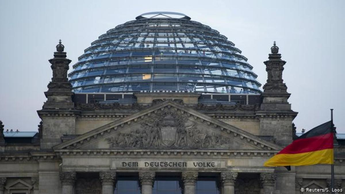 The Reichstag building's Modernist dome by Sir Norman Foster.