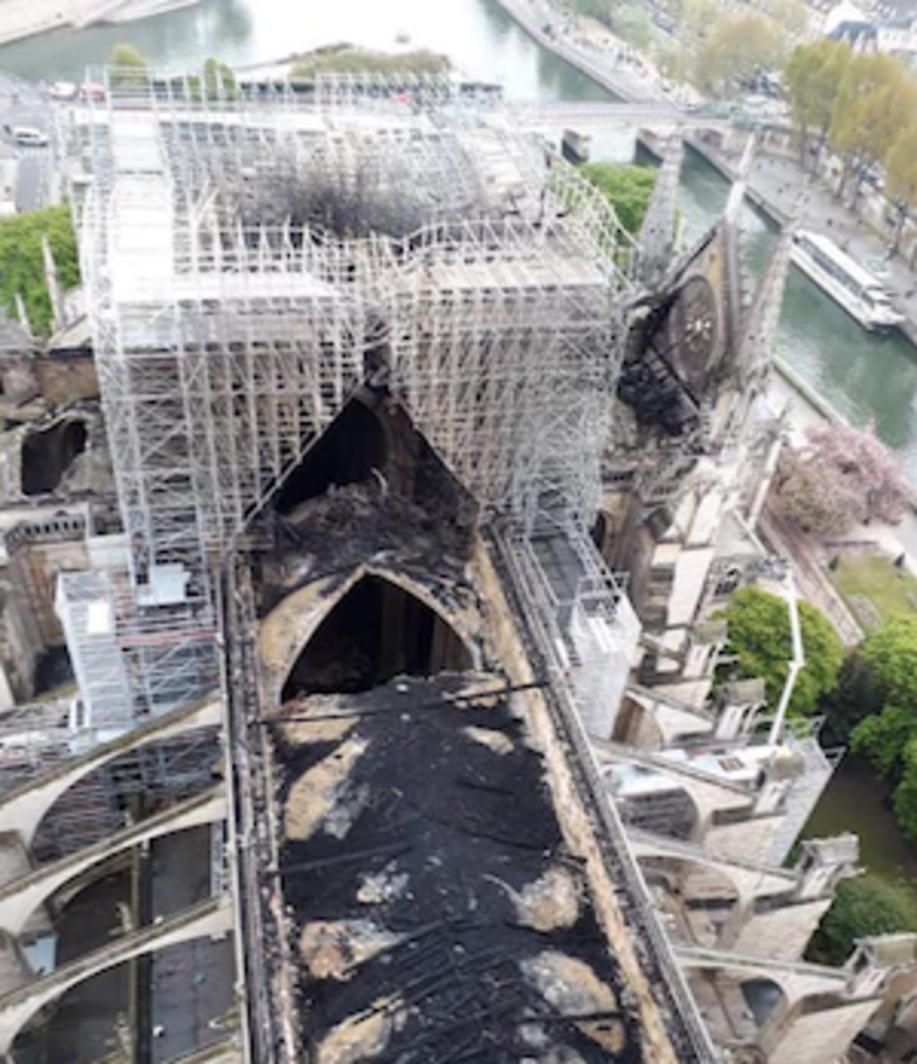 damage to Notre Dame after fire